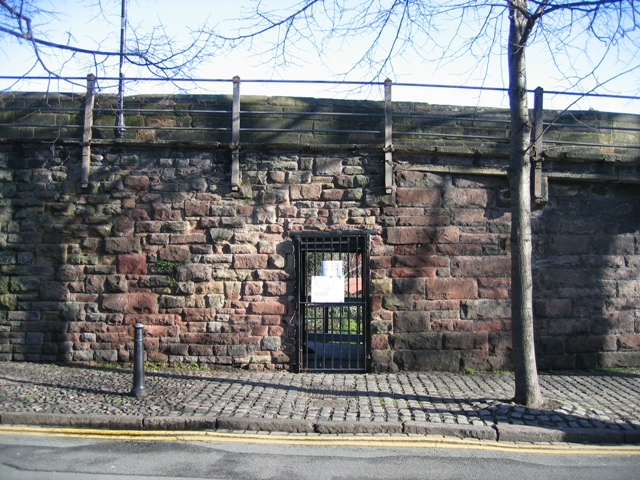 Closed gate in the city walls