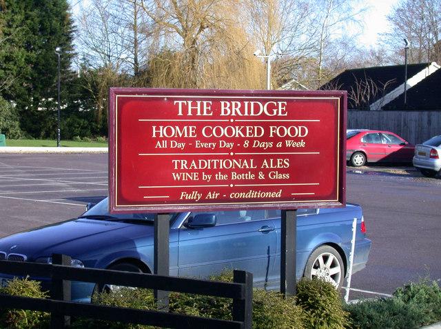 Sign at The Bridge P.H.