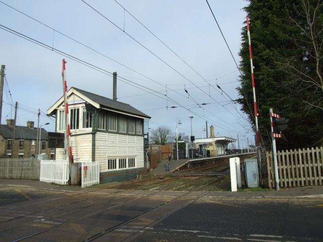 Signal box at Downham Market railway station