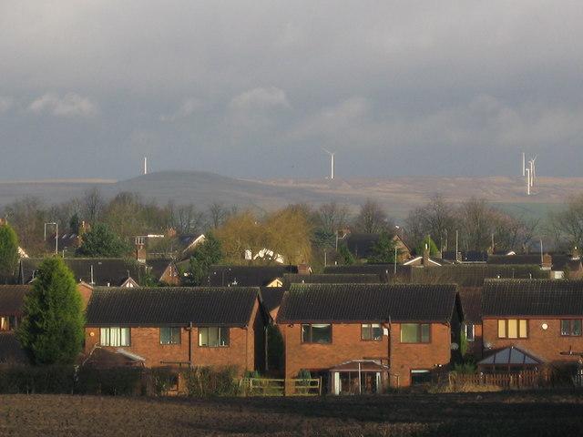 Scout Moor Wind Farm from M62