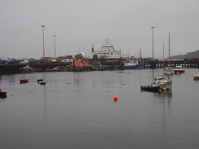 Mallaig Harbour scene