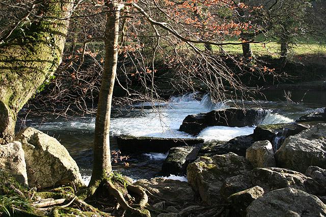 Bere Ferrers: Denham Bridge Mill weir