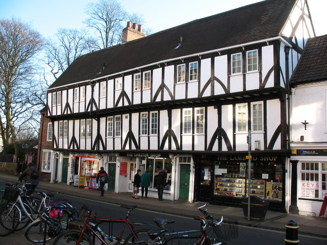 Timber framed buildings on Micklegate