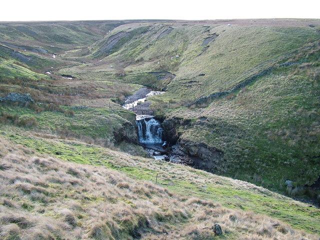 Waterfall on Rowantree Beck