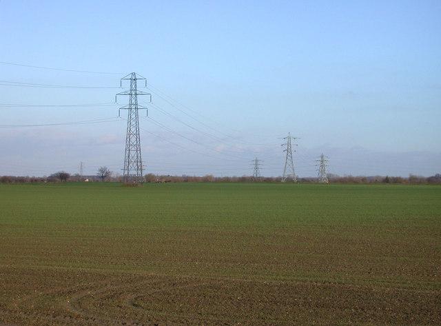 Power lines leading toward Snout Corner