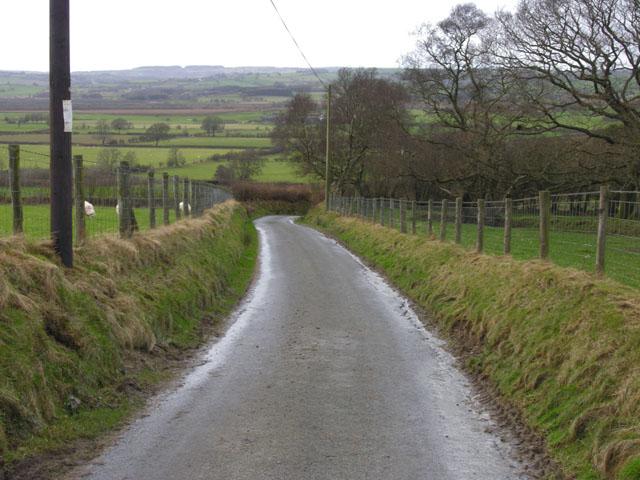 Lane near Wern-felen farm