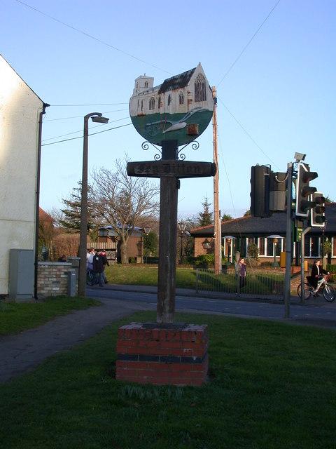 Fen Ditton village sign, western side