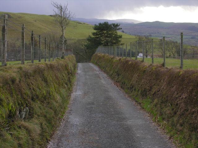 Lane east of Ffair-rhos