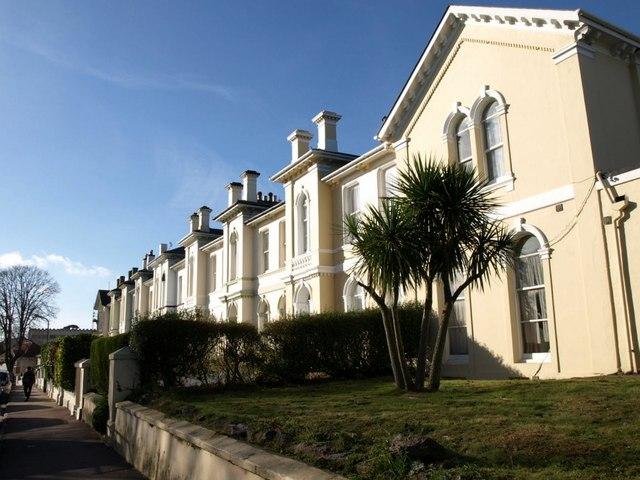 Victorian terrace, Castle Road, Torquay