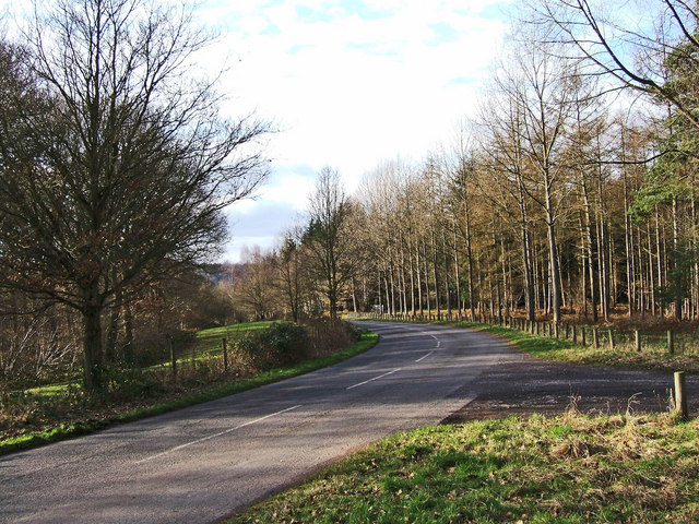 Unclassified public road through Eymore Wood