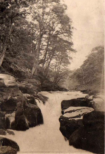The Strid, River Wharfe, taken in 1923