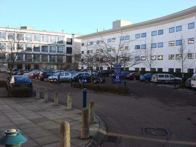 Small car park, University of East Anglia