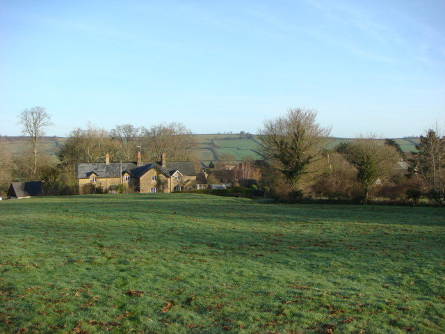 Cottages and farmland