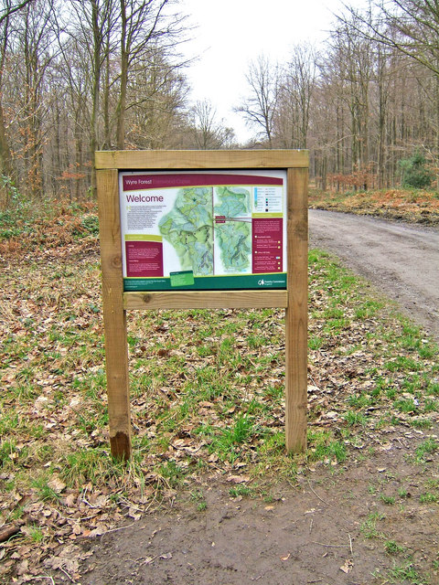 Wyre Forest Information Board at car park
