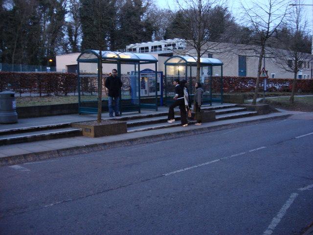 Bus stop, University of East Anglia