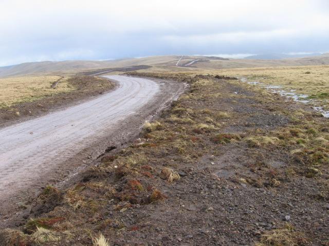 Windfarm road on Rowantree Craig