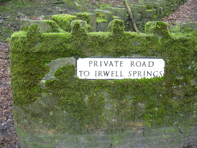 Road Sign at Irwell Springs