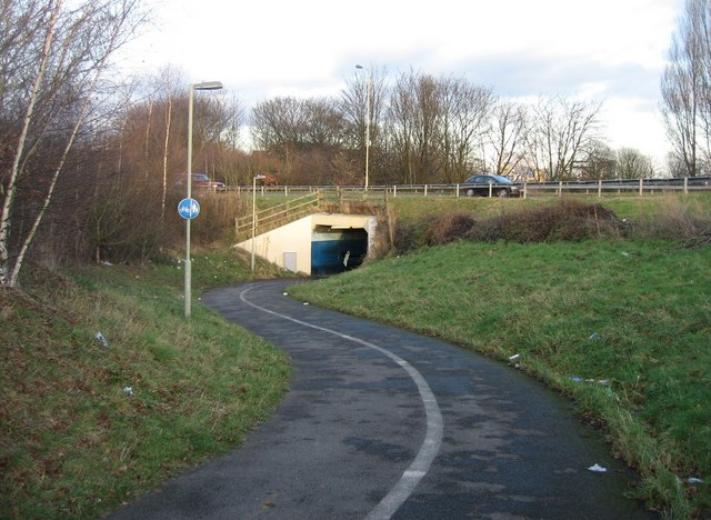 Cycle Path close to Morrisons