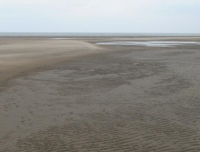The beach, east of Gronant
