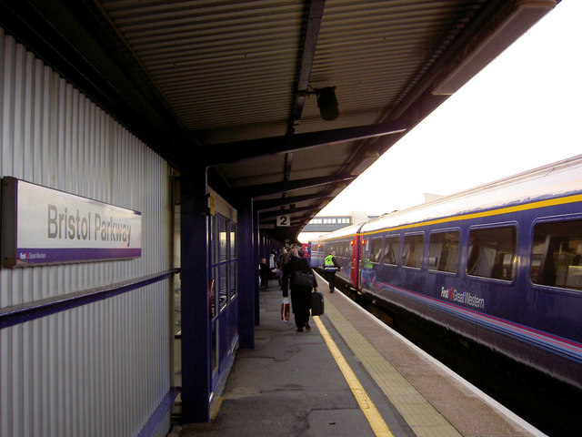 First Great Western train from London Paddington waiting at Bristol Parkway