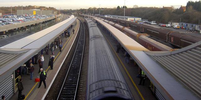 Bristol Parkway railway station looking East