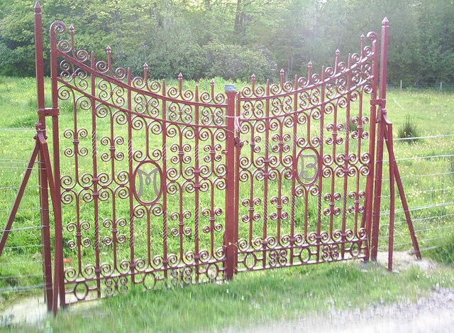 Ornate metalwork gates at Kinloch Castle