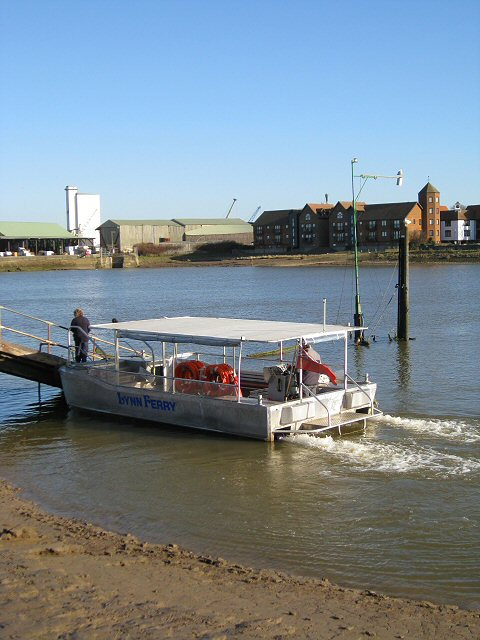 Disembarking from Lynn Ferry