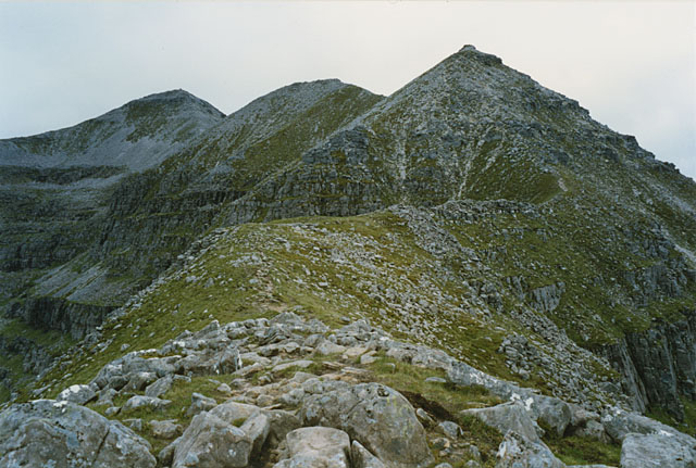 The ridge west to Stob a' Choire Liath Mhor