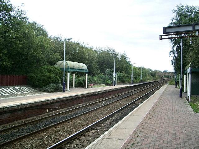 Huncoat Railway Station