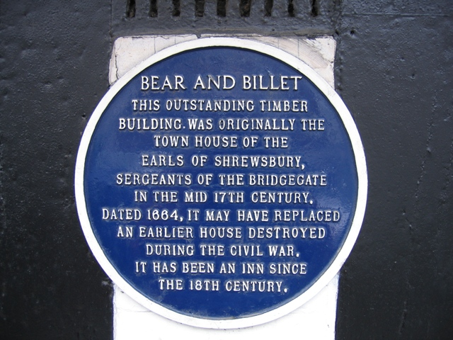 Blue Plaque on the Bear and Billet
