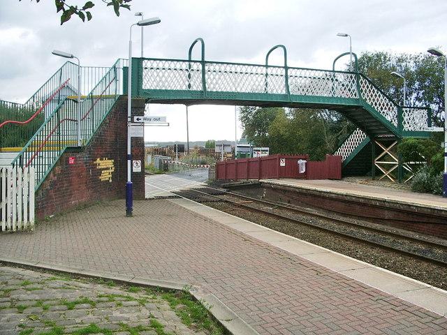 Footbridge at Huncoat Railway Station