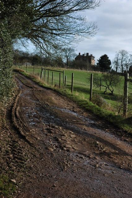 Track near Calcothill Farm