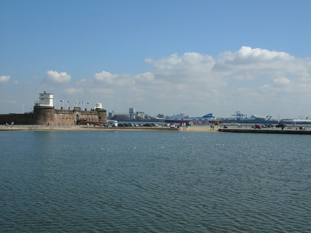 Marine Lake and Fort  Perch Rock