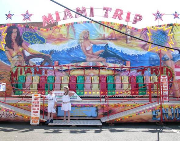 New Brighton outdoor funfair - Miami Trip ride
