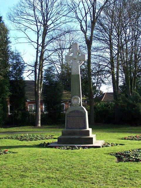 War Memorial, Chasetown Memorial Park