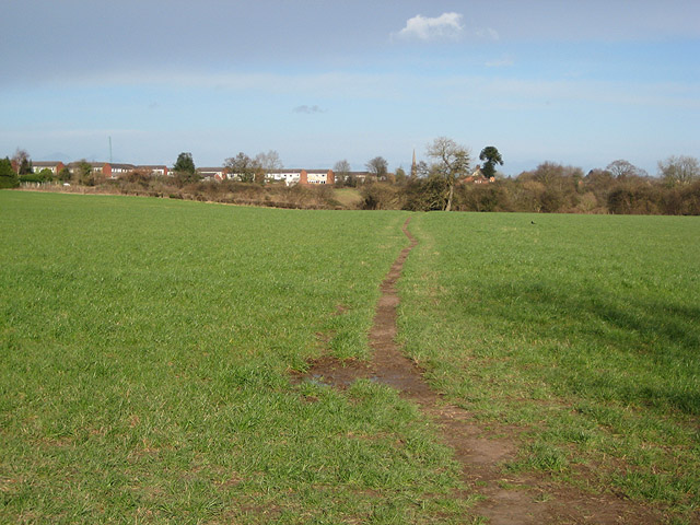 Well-used footpath into Newent