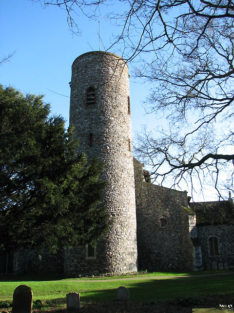 The church of St Nicholas in Bradwell