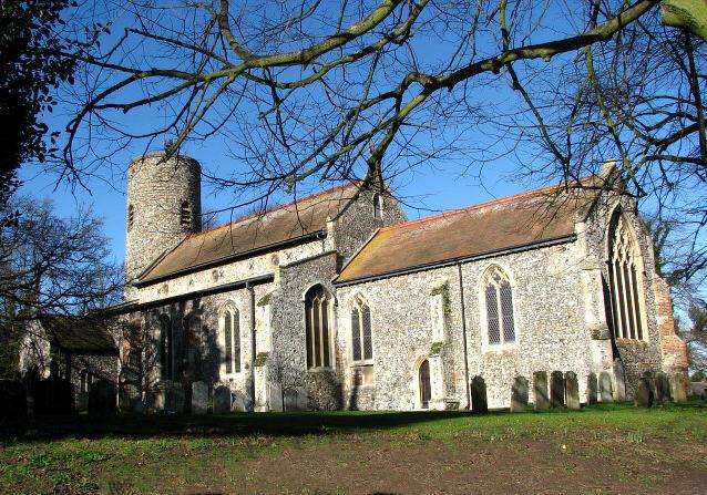The church of St Nicholas in Bradwell