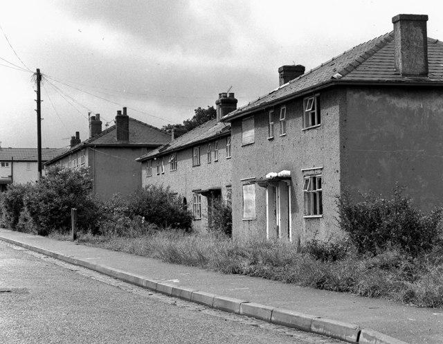 Derelict council houses, Milan Avenue, Burnley, Lancashire