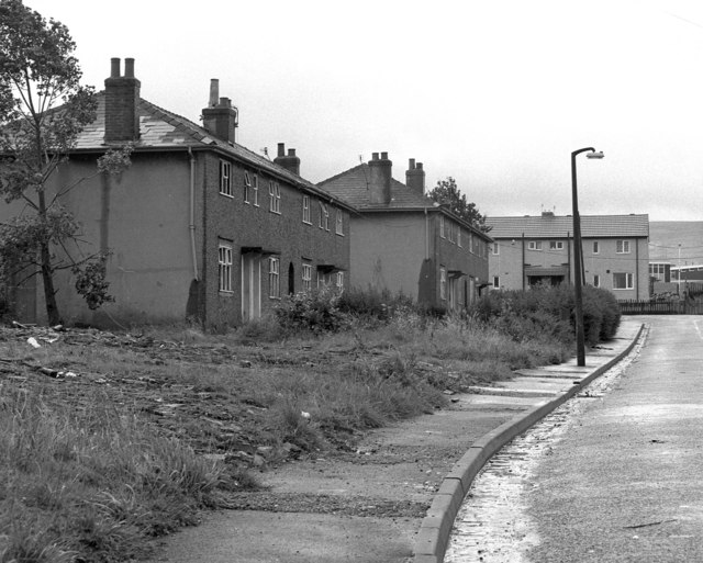 Derelict Council houses, Milan Avenue, Burnley, Lancashire (2)