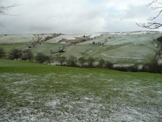 View east from Blaen Bwch Farm