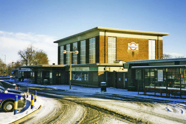 Oakwood Station in winter, London, N14