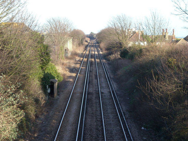 Railway east of Bexhill-on-Sea