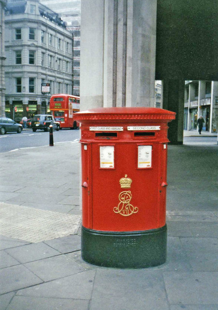 Edward VII double Pillar Box, Ludgate Hill, London