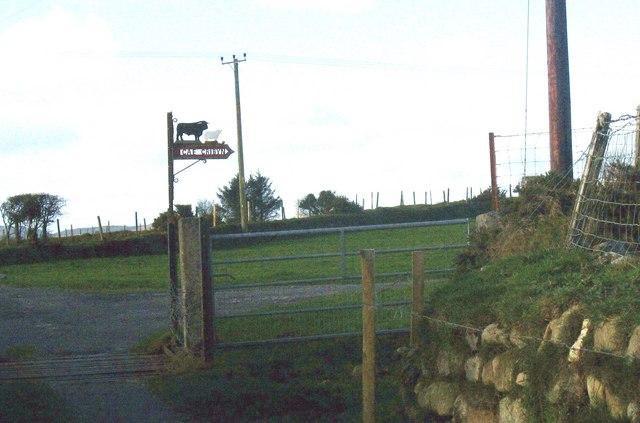 Entrance gate to Cae Cribyn Farm