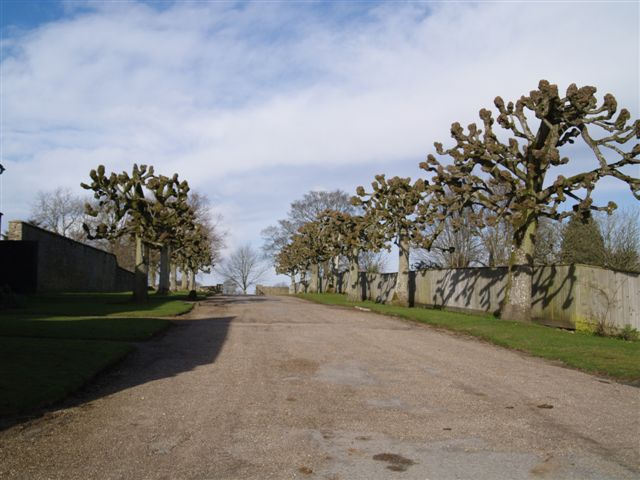 Driveway from Notgrove Manor and church