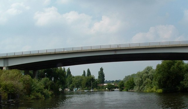 A47 Postwick Viaduct from River Yare