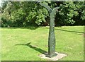 TG3204 : Marker Sculpture, Rockland Staithe Cycle Route No 1 by Paul Shreeve
