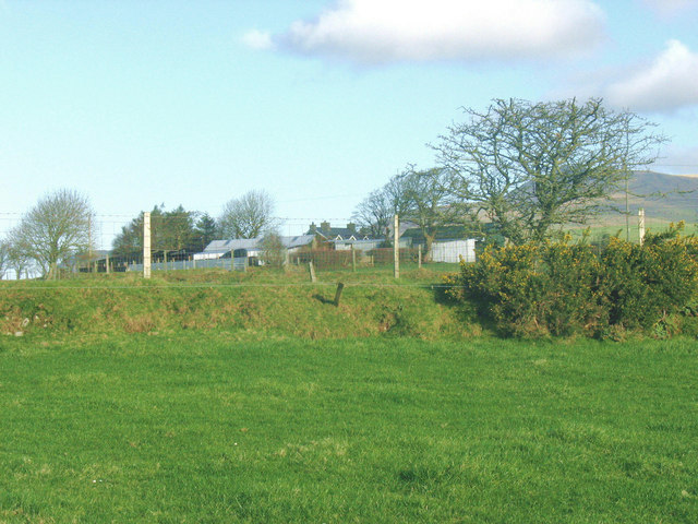View across towards Cae Cribyn Farmhouse