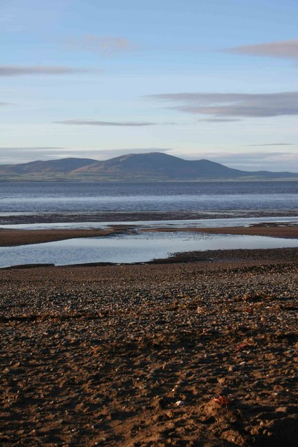 View of Criffel from Silloth, West beach